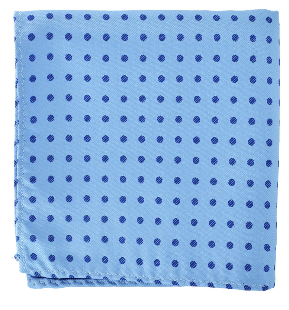 Extra Long Blue Polka Dots Men's Tie BerlinBound Ties - Paul Malone.com