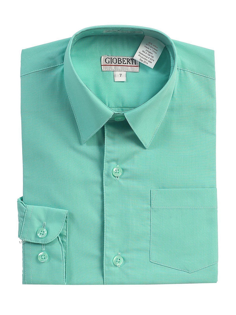 Classic Mint Boys Dress Shirt Gioberti Shirts - Paul Malone.com