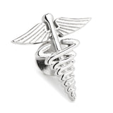 3D Medical Caduceus Lapel Pin Ox & Bull Lapel Pin - Paul Malone.com