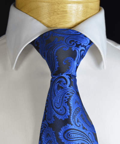 Pink and Blue Paisley Silk Tie Set