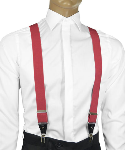Solid Black Men's Suspenders