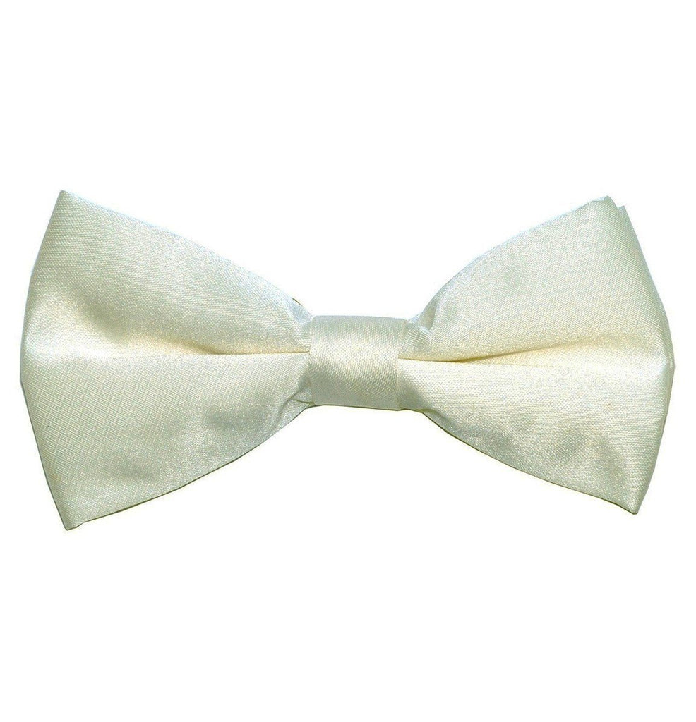 Solid Cream Pre-Tied Bow Tie Paul Malone Bow Ties - Paul Malone.com
