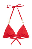 Red chain triangle top