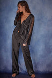 India Satin tie front PJ set