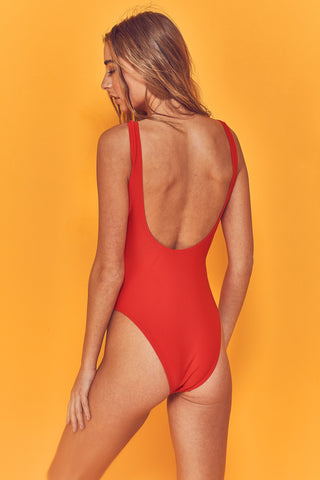 Halley Red Scoop Swimsuit