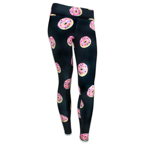 KGB Glass Pink Donuts Yoga Pants