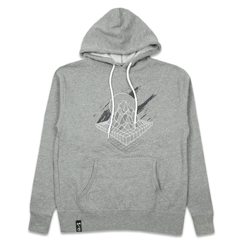 Danger Zone Unisex Heather Gray Pullover Hoodie