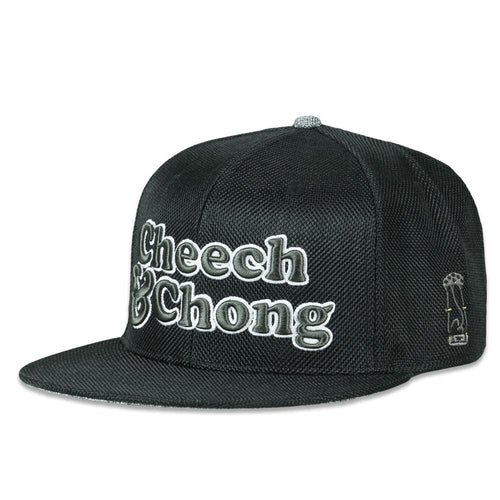 Cheech and Chong Black Hemp Fitted Hat