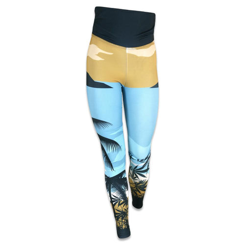 Tropical Surfing Bear Yoga Pants