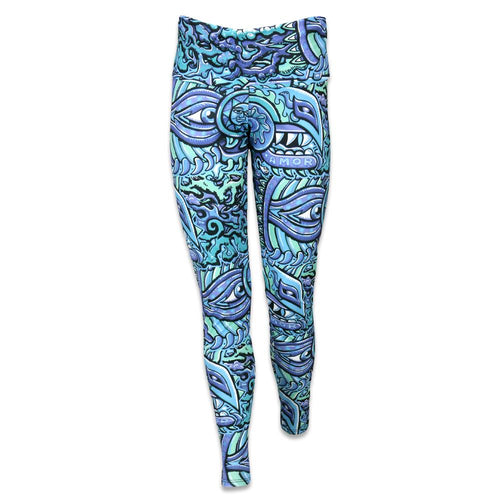 Chris Dyer Rainbow Serpent Blue Yoga Pants