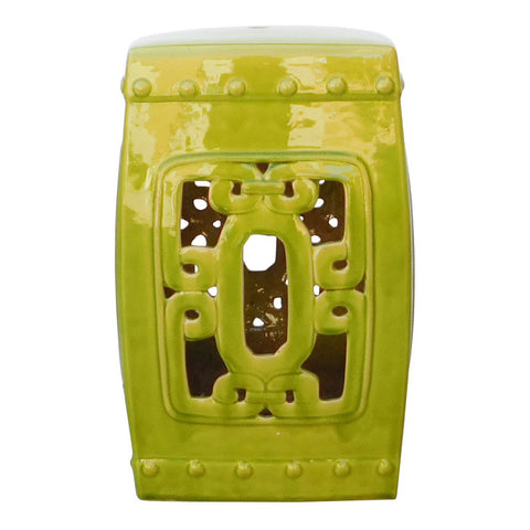 square green porcelain stool