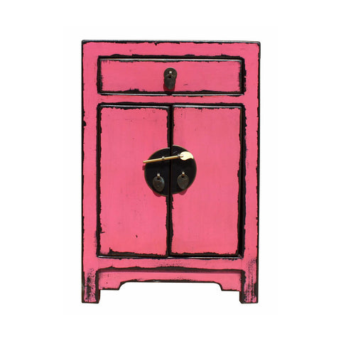 pink color end table | nightstand