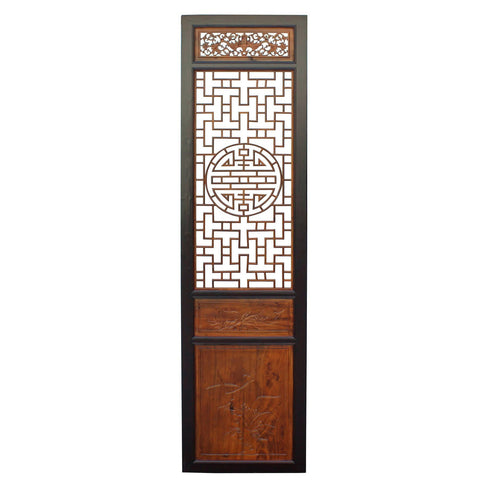 antique tall Asian door panel - partition panel - wood panel