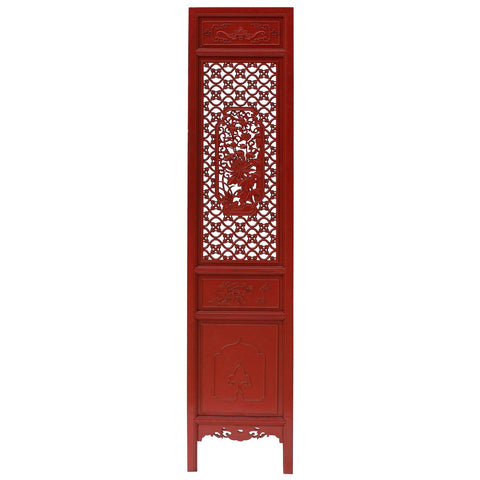 red color Chinese carved partition panel - decor panel