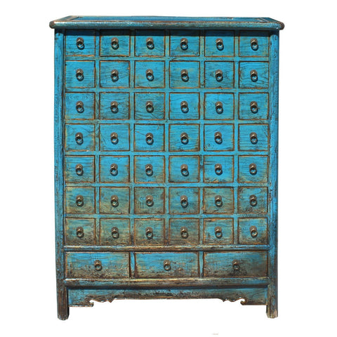 Chinese blue color medicine cabinet