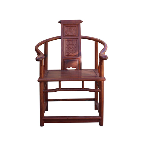 Chinese rosewood horse shoe arm chair