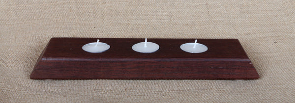 Jarrah Candle Holder