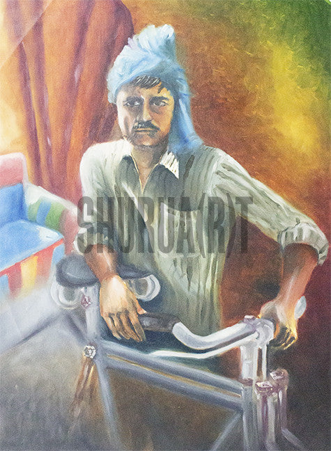 Portrait of Bicycle Rickshaw Driver