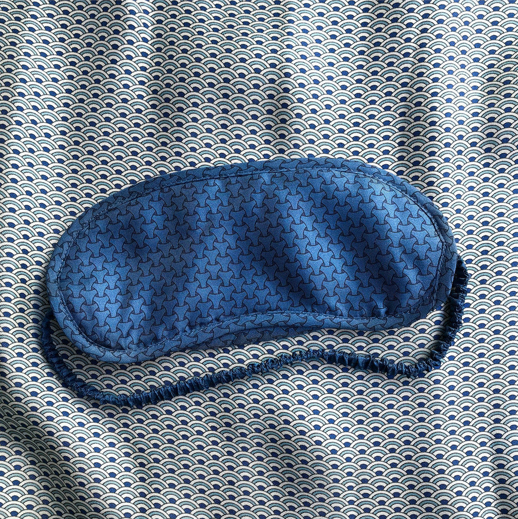 Blue Armor Silk Eye Mask - All At Sea Cph