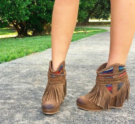 Naughty Monkey Fringe Bootie