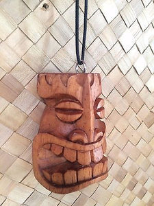 NEW Tiki Mask Pendant necklace bar not a mug Hawaii Smokin Tikis