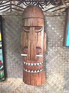 New Bone Nose Happy Cannibal Tiki Mask Smokin' Tikis Hawaii 1211f