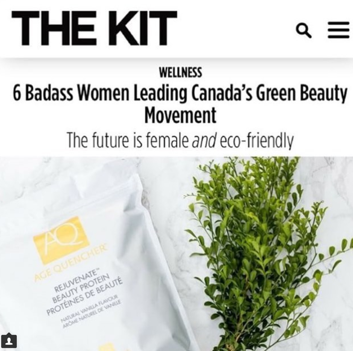 THE KIT, Green Beauty Movement