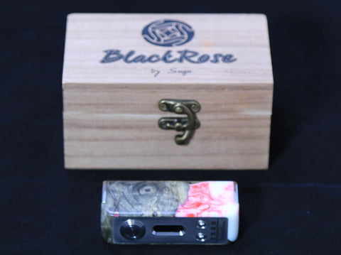 Black Rose Zero Visibility by Sugu with Matching Drip tip and beauty rings