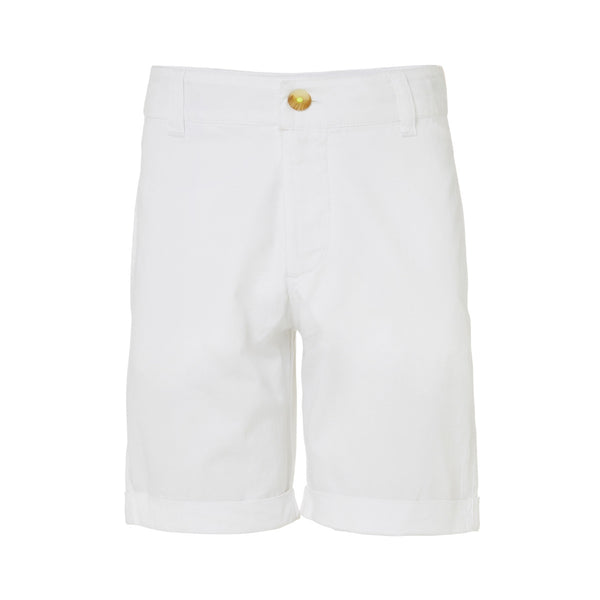 Tailored classic white cotton shorts. Effortlessly stylish in a light weight and soft fabric. Easy to coordinate as part of any holiday outfit.