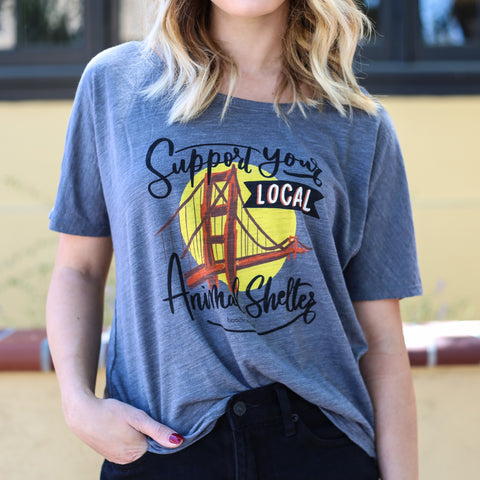 Brindle Market - Support Local Animal Shelter Women's Tee