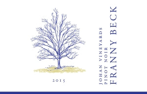 2015 Franny Beck Johan Vineyard  Pinot Noir Willamette Valley Oregon