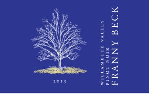 2015 Franny Beck  Willamette Valley Pinot Noir Willamette Valley Oregon