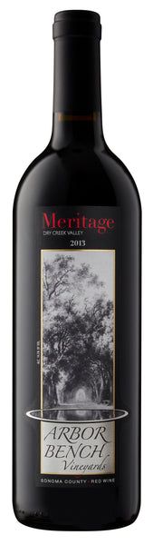 2013 Arbor Bench Vineyards Meritage 34% Cabernet Sauvignon, 34% Merlot and 32% Malbec Dry Creek Valley California