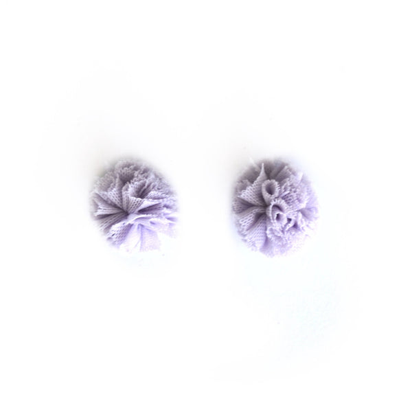 Lavender Tulle Clip-on Earrings