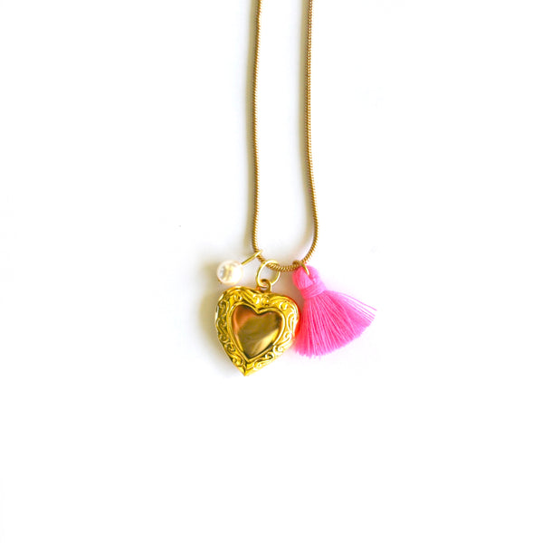 Small Heart Locket Necklace
