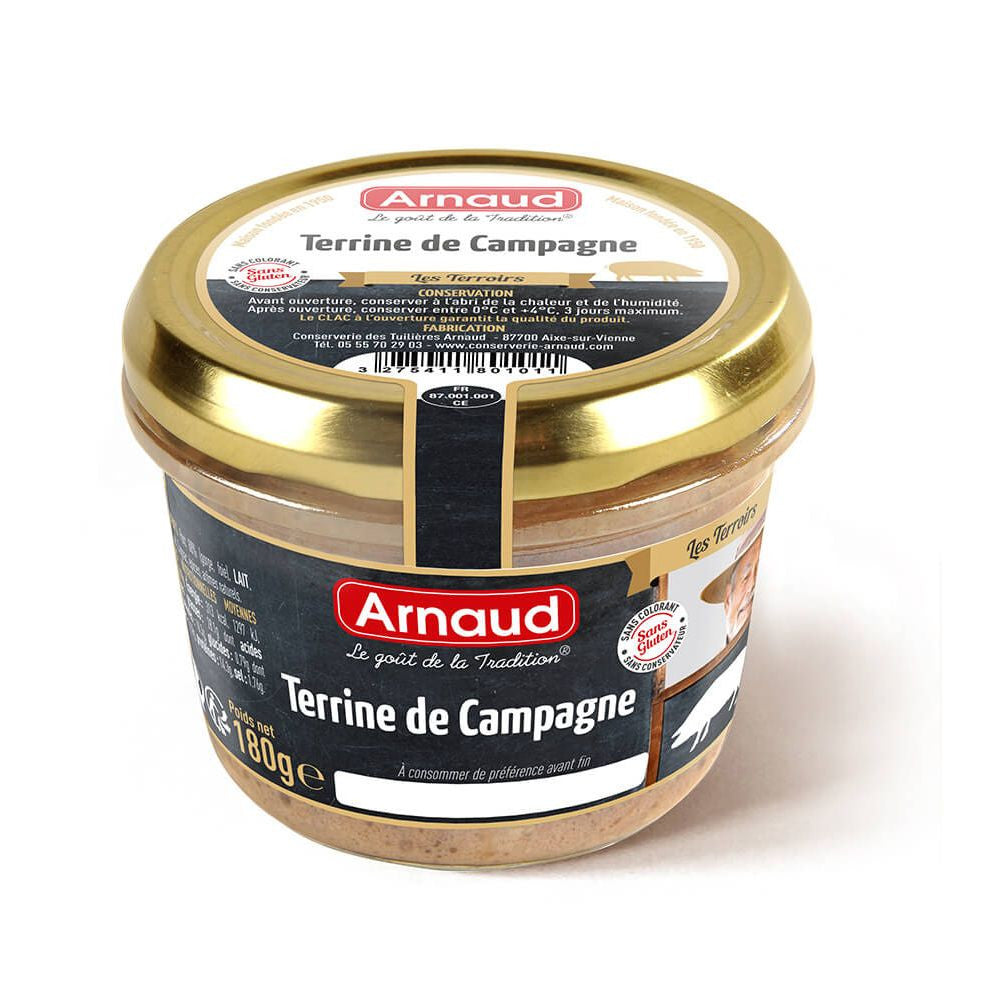 Country Terrine Arnaud 180g - Terrine de Campagne -SPECIAL PRICE
