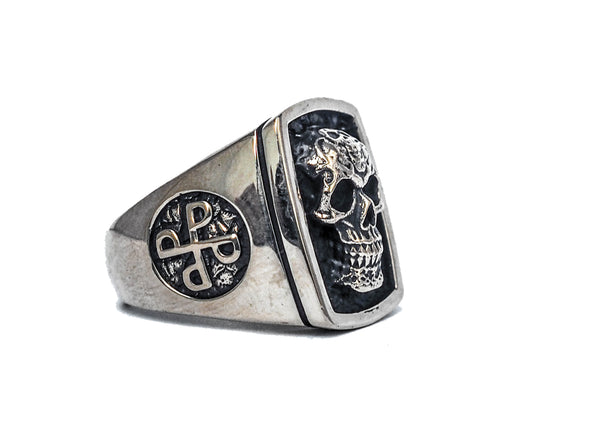 Phantom ring, Skull ring, Silver ring, 925 Sterling Silver Style Heavy Biker Harley Rocker Men's Jewelry, The F4 PHANTOM Lee Falk (R-32)