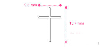 Cross Pendant - 925 Sterling Silver  - Silver Pendant - pandent For gift - Rocker Gothic Woman Jewelry (P-018)