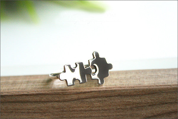 925 sterling Puzzle Ring,Silver ring,adjustable ring,free size ring, puzzle pieces,Jigsaw Puzzle ring, Silver ring  (R-102)