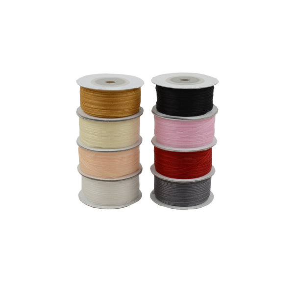 Ribbon: Chiffon Woven Edge Ribbon 3.5MM X 50M