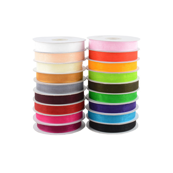 Ribbon: Chiffon Woven Edge Ribbon 15MM X 50M
