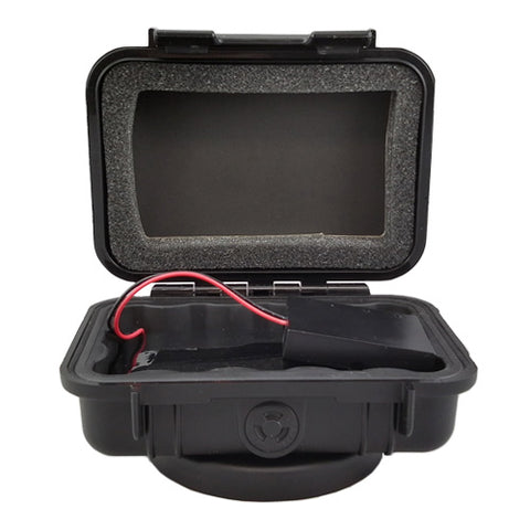 Weatherized extended charge pack box for live global positioning trackers