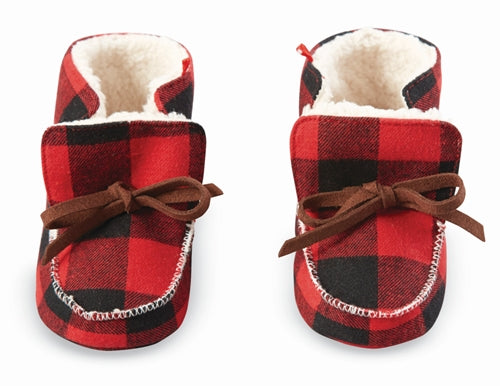Baby Booties | Buffalo Plaid - Baby Footwear - Poshinate Kiddos Baby & Kids Gifts