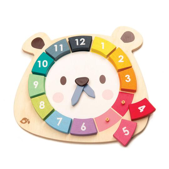Wooden Toys | Bear Colors Clock | Sustainable Wood