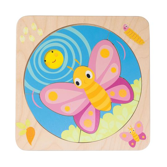 Wooden Puzzle | Butterfly Life | Sustainable Wood - Puzzles, Games & Toys - Poshinate Kiddos Baby & Kids Boutique - Butterfly life stages puzzle