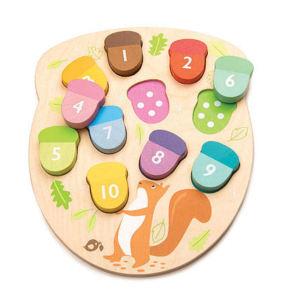 Wooden Toys | Counting Acorns | Sustainable Wood - Kids Toys - Poshinate Kiddos Baby & Kids Store - wooden acorns colorful matching set