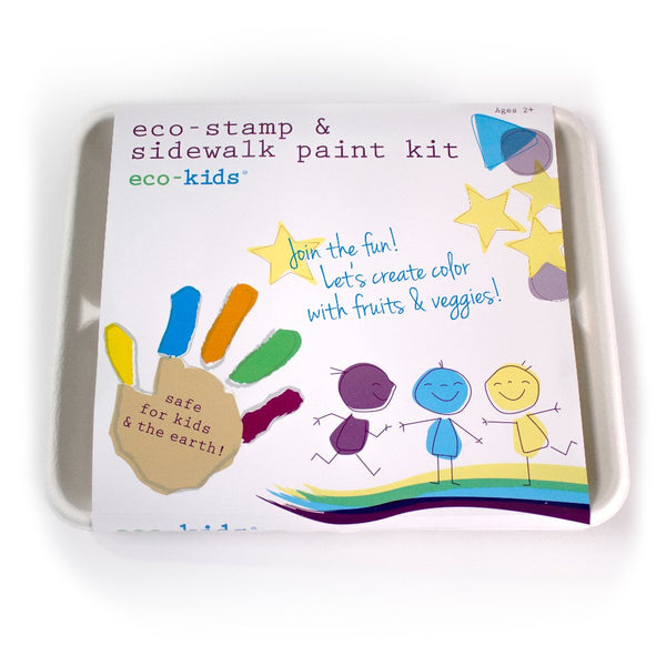 Kids Eco Stamp & Sidewalk Paint Kit | 8 pc set