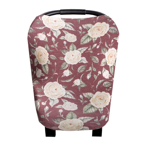 Multi Use 5 in 1 Baby Cover | Burgundy Rose