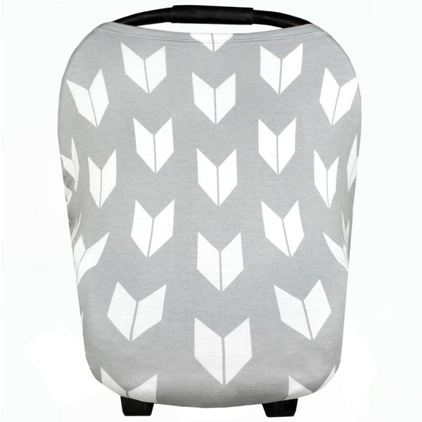 Multi Use 5 in 1 Baby Cover | Grey Large Arrows