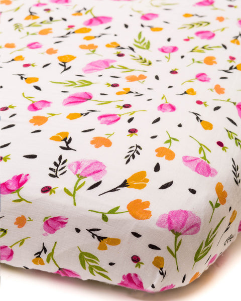 Cotton Muslin Fitted Crib Sheet | Berry & Bloom
